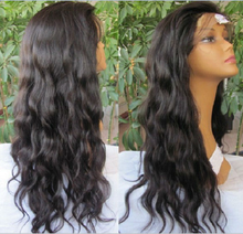 8-30 Inch 130% density natural black natural wave virgin brazilian hair overnight delivery lace wigs