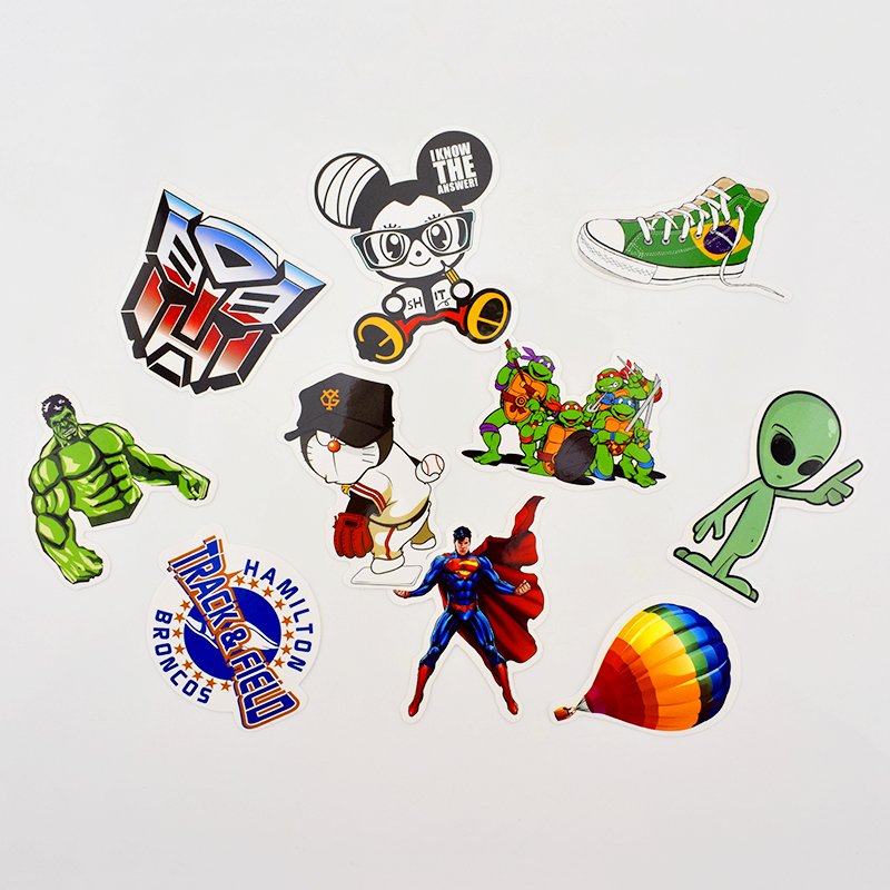 50 Different Cartoon PVC Stickers wholesale