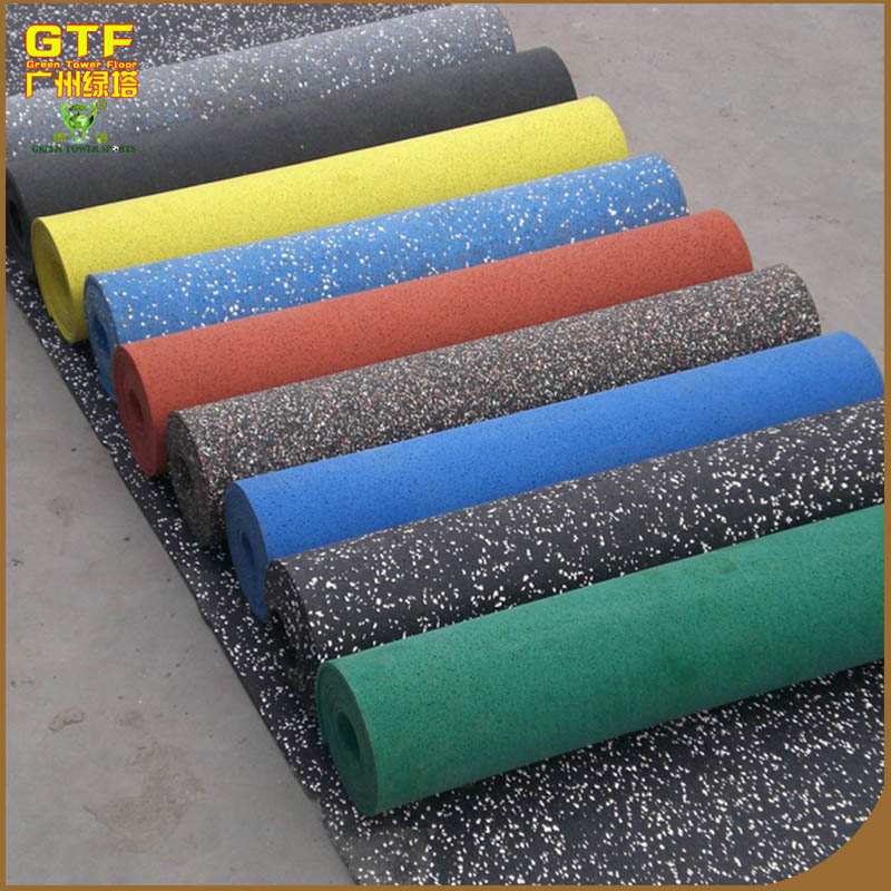 Popular 5mm thick gym commercial EPDM granule rubber floor roll