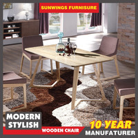 Top quality most popular wooden dining table with bentwood leg