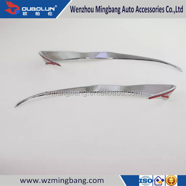 Chrome headlight eyebrows cover For Subaru XV 2015 head lamp