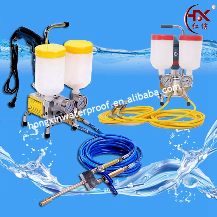 HX-800 10000PSI Double Liquid Bottle Two Component Epoxy Resin Injection Pump