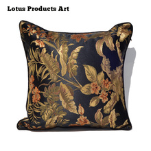 wholesale high quality wooden sofa seat cushion cover embroidery design