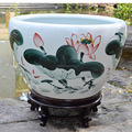 Wholesale TOP quality chinese hand painted large ceramic flower pot fish bowl