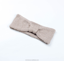 Fashionable Grey Knitting Headband with Shinning Rhinestone
