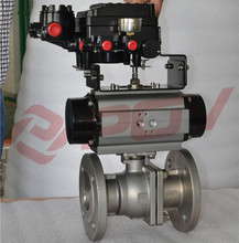 adjustable pneumatic stainless steel ball float valve with positioner