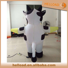 customized inflatable walking cows costume for promotion