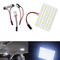 10Pcs White T10 BA9S Festoon LED 48SMD Panel Interior Dome Map RV Trailer Light