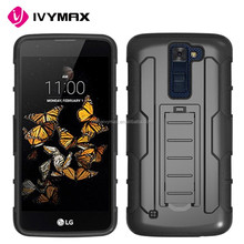 China factory accessories holster protective phone case for LG k8 hybrid combo covers