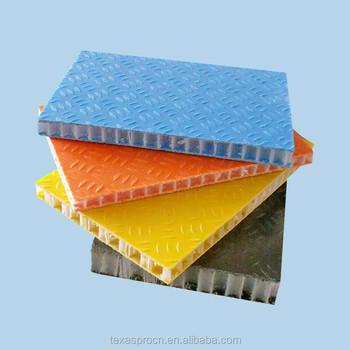 FRP honeycomb panel for truck body parts