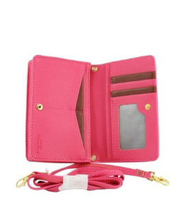 Color PU Leather Stand Cover Flip Lady Multi envelope Wristlet HandBag Clutch wallet case for Samsung Galaxy S4 ,for iphone 5s