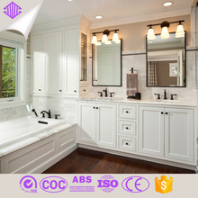 white lacquer high gloss modern bathroom furniture mirrored cabinet made in china foshan factory