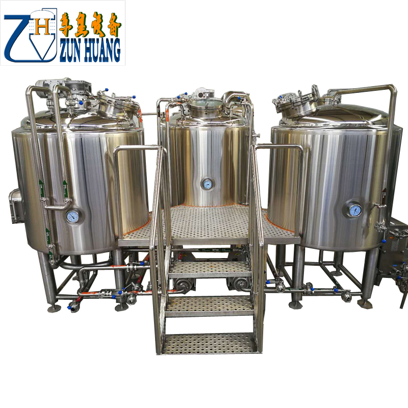 draft beer manufacturing machine for beer production and brewing with wheat and barley malt