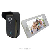 2.4G 7inch Ditigal wireless video door phone with Remote Controller and Unlock Function