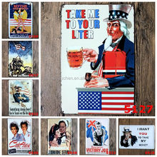 New 2017 Metal TIN SIGNS Retro Poster Vintage iron metal painting for Home Bar Cafe Pub wall Decor