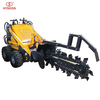 Mini chain digging trencher