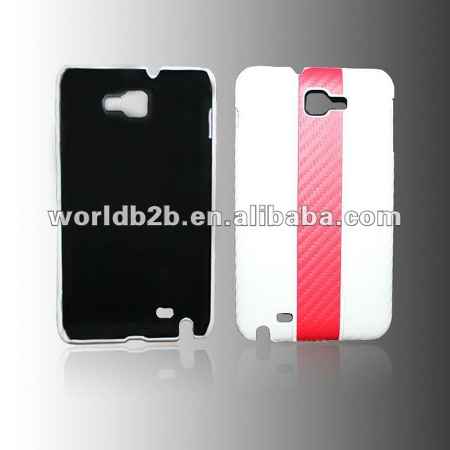Leather skin hard back case cover for Samsung Galaxy Note GT-N7000 i9220