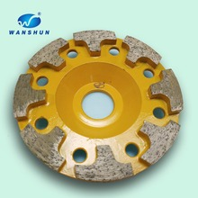 Concrete floor grinding diamond cup wheel