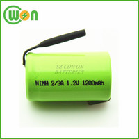 2/3A nimh rechargeable battery 1.2V NI-MH 1200mAh battery cell