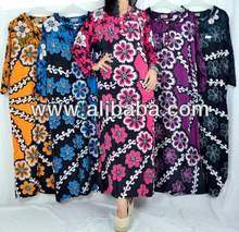 Sleepwear, LongDress,Night Gown, Daster Batik