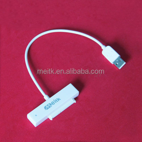 "New USB 2.0 TO SATA (7+15)PIN Adapter Cable for 2.5"" Hard Disk Drive HDD White"