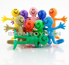 Wholesale cute Multicolor pvc cartoon bendable action figure toys