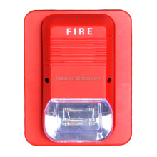2 wire Conventional Sounder Strobe DC24V 3 alarm sounds fire and burglary alarm system Fire alarm strobe siren SG109
