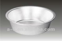 White Bevel Shaped Aluminum Wash Basin