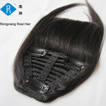 Fast shipping 도매 공장 natural black clip 인간의 hair fringe
