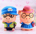 cheaper price custom made your own design plastic toy/customized large space collect cash glasses pig money box