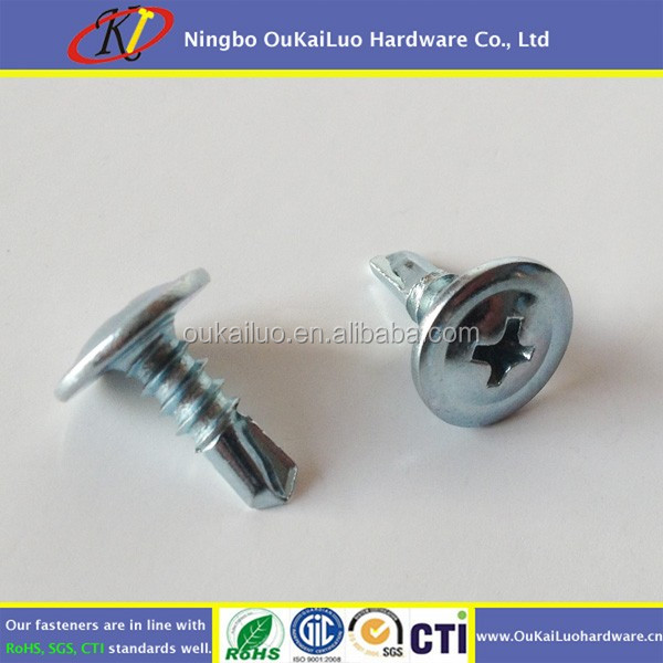 Carbon steel Truss Wafer Head Self Drilling Screw Zinc plated