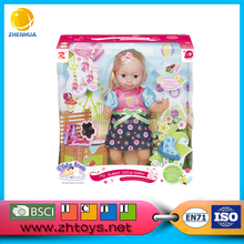 18 inch moving head induction doll wear kids beautiful model dresses doll for sale