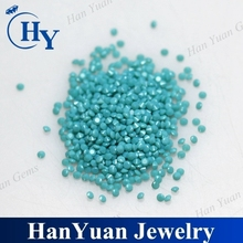 wholesale 1.0mm small size in stock round synthetic turquoise