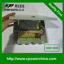Your wise choice DC 9 PORT, 10 AMP 120w for security cameras Multiple Output Power Supply Box