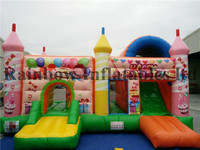 2016 New party supplies kids inflatable castle slide for sale