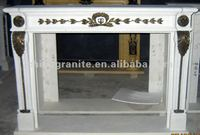 White Marble Fireplace Limestone Fireplace