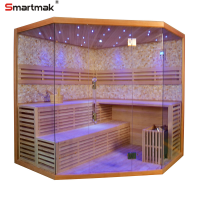 Smartmak red cedar steam room Finnish saunas for distributor