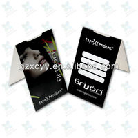 Balck printed hangtag packaging for hair extension