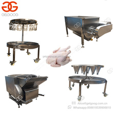 2018 Small Chicken Slaughtering Line Scalding Defeathering Quail Poultry Processing Plant Hanger Slaughter House Machine Price