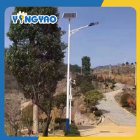 6m solar panel led street light with battery back up