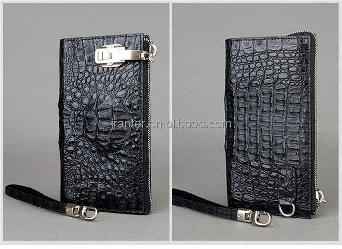 Handmade Genuine Crocodile Leather Bag Men Business Clutch Bag Wallet Custom