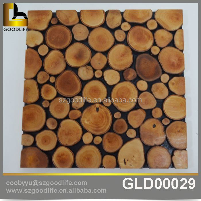 3d wood wall panel mosaic tile