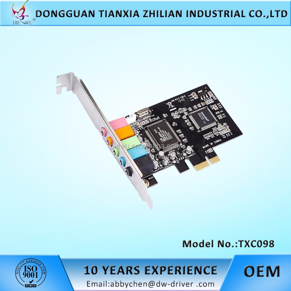 PC sound card 5.1 Channel PCIe sound card CMI8738