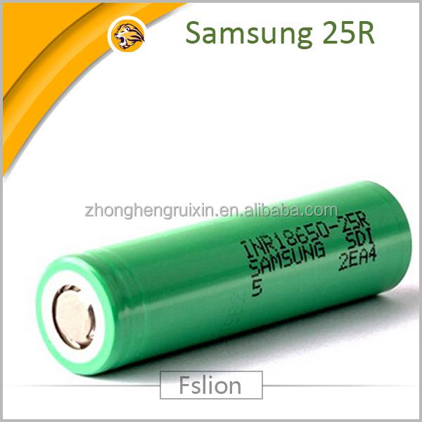 New green original 18650 samsung 25r 2500mah li ion high for Avantage batterie lithium ion