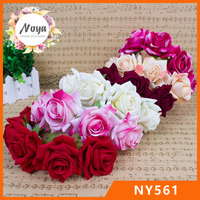 Fashion high quality rose flower hair band,party flowers garland hair bands