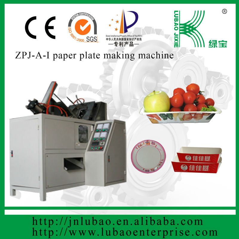 it can be printed beatufil picture paper plate making machine