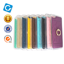 360 Rotate Ring With Bracket Colorful Leather Mobile Phone Case For iPhone 6 Case