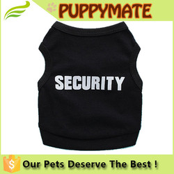 Small Dog Shirt Pet Puppy Clothes Summer Quote Security Cotton Costumes Pet Dog Cat Funny Shirt T Shirt