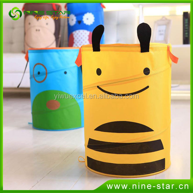 Hot sale cartoon animal kids collapsible laundry basket
