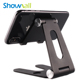 Adjustable aluminum folding table stand mini portable tablet and mobile collapsible cell phone holder desktop for ipad iphone